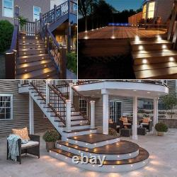 20X Warm White 19mm Outdoor Yard Patio Landscape Lighting LED Deck Stair Lights