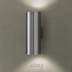 2x 14W LED Stainless Steel Wall Sconce Light Fixture Outdoor Up/Down Lamp Garden