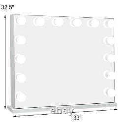 33L Hollywood Makeup Mirror Lighted Vanity Mirror with Bulb Beauty Mirror Large