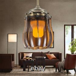 42 Chandelier Indoor Ceiling Fan Light Invisible 8 Blades LED Remote Control