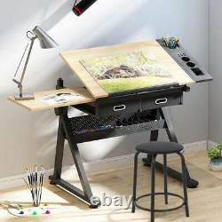 Adjustable Drafting Table Drawing Craft Art Hobby Board Home Office Kid's Desk