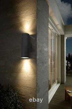 Black Stainless Steel Double Outdoor Wall Light IP65 Up/Down Outdoor Wall Light