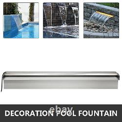 Color Changing 23.6 Lighted Spillway LED Stainless SteelWall Pond Spillway