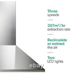 ElectriQ 60cm Traditional Stainless Steel Chimney Cooker Hood
