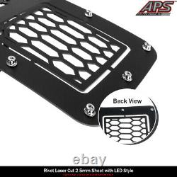 Fits 2018-2020 Ford F-150 Bumper Black Mesh with LED grille insert