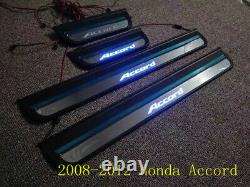 For Honda Accord 2008-2012 LED Light Stainless Steel Outer Door Sill plate Guard