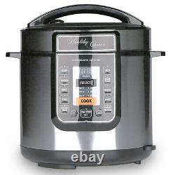 Healthy Choice 6L Electric SlowithPressure Cooker 1000W LED Display/Non Stick Pot