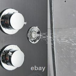 LED Black Shower Panel Column Tower with Body Jets Stainless Steel Bathroom Mixer
