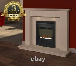 LED Electric Fireplace 1800W Wall Mounted Fire Place Inset Stove Glass Heater