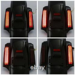 LED Rear Fender System For Harley Touring Electra Street Glide 14-2020 CVO Style