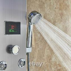 LED Shower Panel Tower Massage Body Jets Stainless Steel Bathroom Mixer Unit New