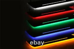 Led Illuminated Stainless Steel Door Sill Guards 2pc For BMW X5 E53 1999-2005