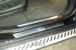 Led Illuminated Stainless Steel Door Sill Guards 4pc For BMW X5 E70 2006-2012
