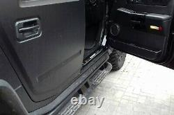 Led Illuminated Stainless Steel Door Sill Guards 4pc For Hummer H2 2003-2009