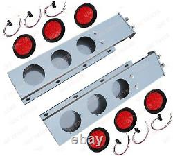QSC 2.5 Stainless Steel Spring Loaded Mud Flap Hanger Pair with 16 LED Lights