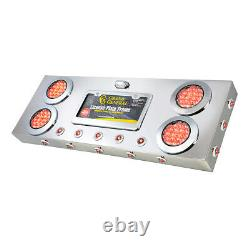 RED/CLEAR LENS STAINLESS STEEL REAR CENTER LIGHT PANEL WithDUAL FUNCTION LED 91303