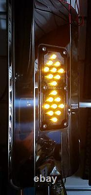 S/S Westcoast Heated mirror with spotter and Amber LED light. Truck, Bus, Van, Ute