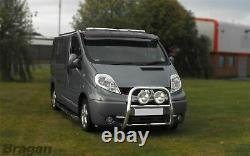 To Fit 07 14 Ford Transit MK7 Stainless Steel Front Van Roof Light Bar + LEDs