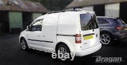 To Fit 2004 2010 VW Caddy Stainless Steel Side Bars Steps Tubes Bar + LEDs
