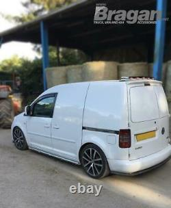 To Fit 2010 2015 VW Caddy Stainless Steel Rear Roof Top Light Bar + LEDs