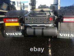 To Fit 2013+ Volvo FH4 Polished Stainless Steel Chassis Rear Back Bar + LEDs x3