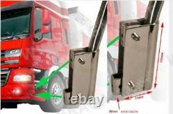 To Fit Scania Volvo DAF Mercedes Renault Man Stainless Steel LED Light Poles