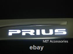 Toyota PRIUS GEN III 2010-2015 LED light door sill plate stainless steel-White