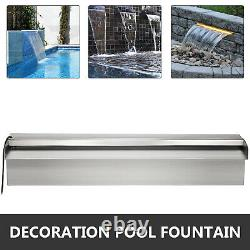 VEVOR Pool Fountain 11.8 Waterfall Spillway Stainless Steel Remote Control LED
