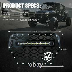 Xprite Steel Mesh Grille with LED Light Bar for 17-18 Polaris RZR XP 1000 Turbo