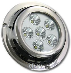 18w Led Stainless Acier Marine Sous-water Boat Squid Light Transom/pêche/ss