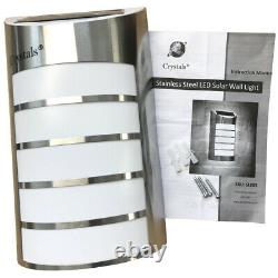 Led Security Light Pir Motion Wall Mounted Stainless Steel Solar Powered