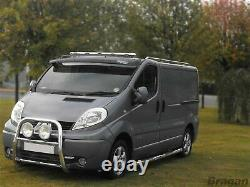 Pour S'adapter 07 14 Ford Transit Mk7 Stainless Steel Van Roof Light Bar + Led