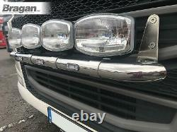 Pour S'adapter Volvo Fh4 2013+ Grill Light Bar Lampe Avant En Acier Inoxydable + Leds Blanches